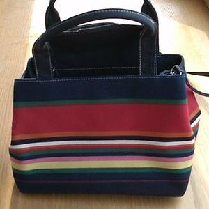 Striped Multi Colored Purse or Shoulder Bag